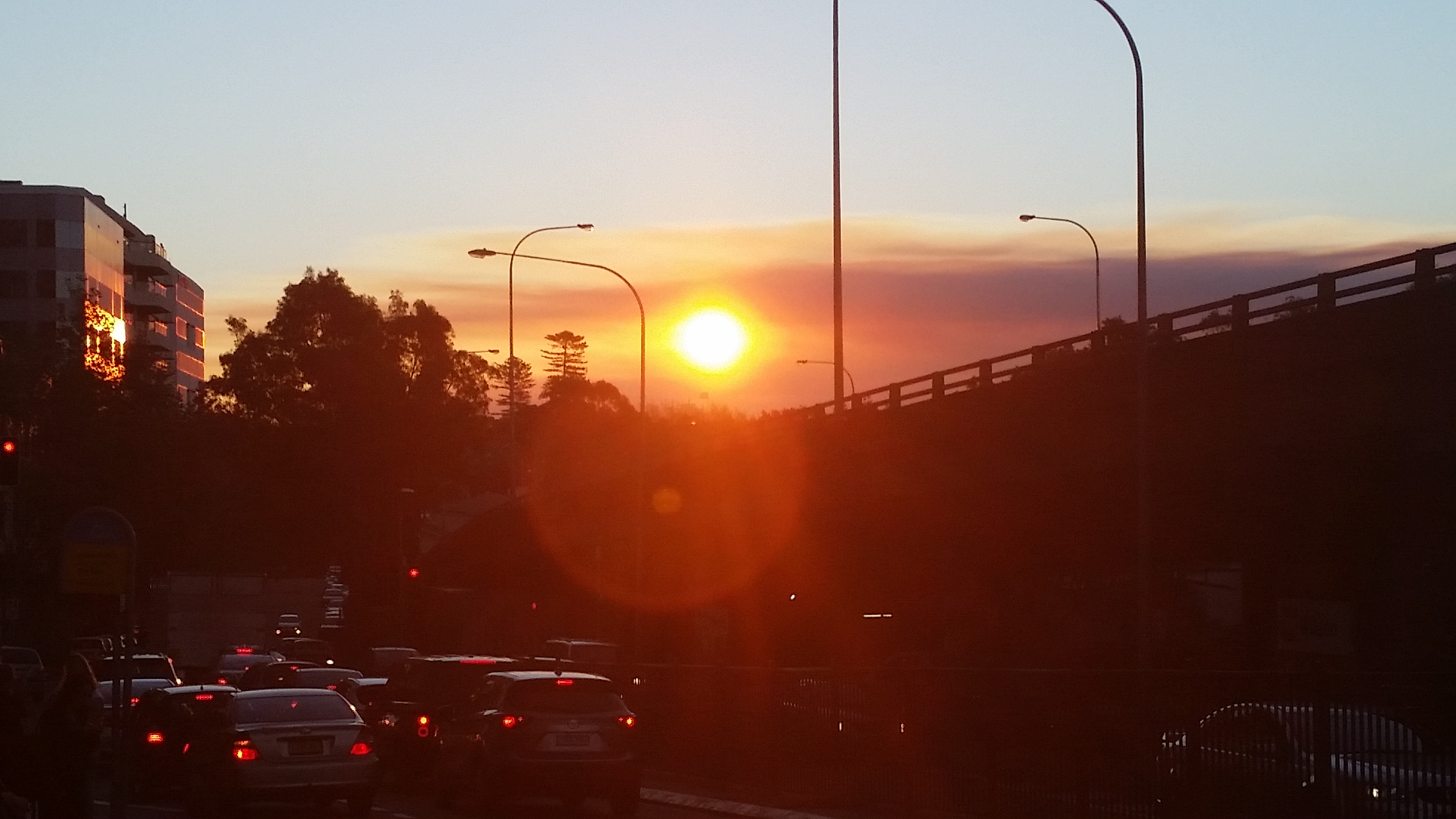 Sunset Bondi Traffic